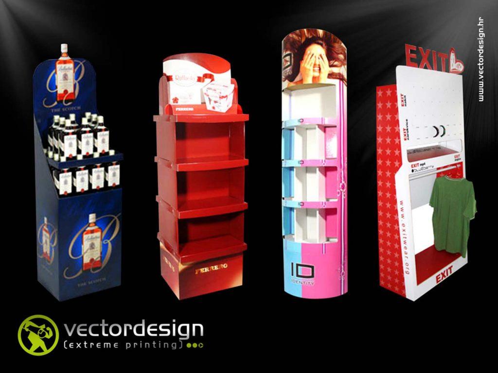 Vector Design Print - Custom Digital Print - Cardboard Displays